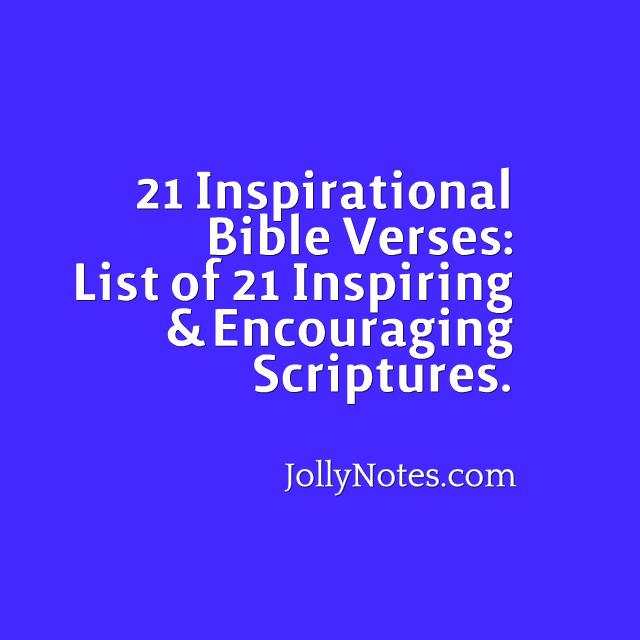 Inspirational Bible Quotes Daily: 21 Inspirational Bible Verses: List Of 21 Inspiring