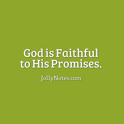 God is Faithful to His Promises