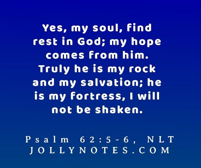 I Will Not Be Shaken Bible Verse.