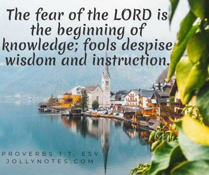 The Fear Of The Lord Is The Beginning Of Knowledge.