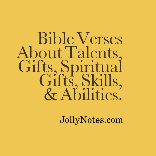bible verses about talents gifts spiritual gifts skills