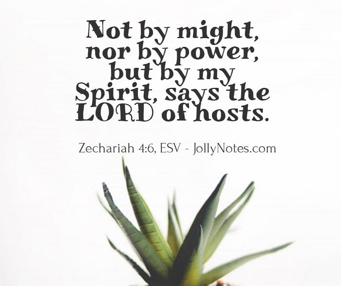 Not by Might, nor by Power, but by My Spirit, says The Lord of Hosts.